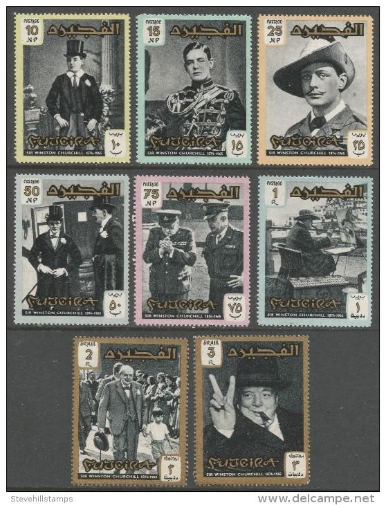 Fujeira. 1966 Churchill Commemoration. MH Complete Set. SG 67-74 - Fujeira