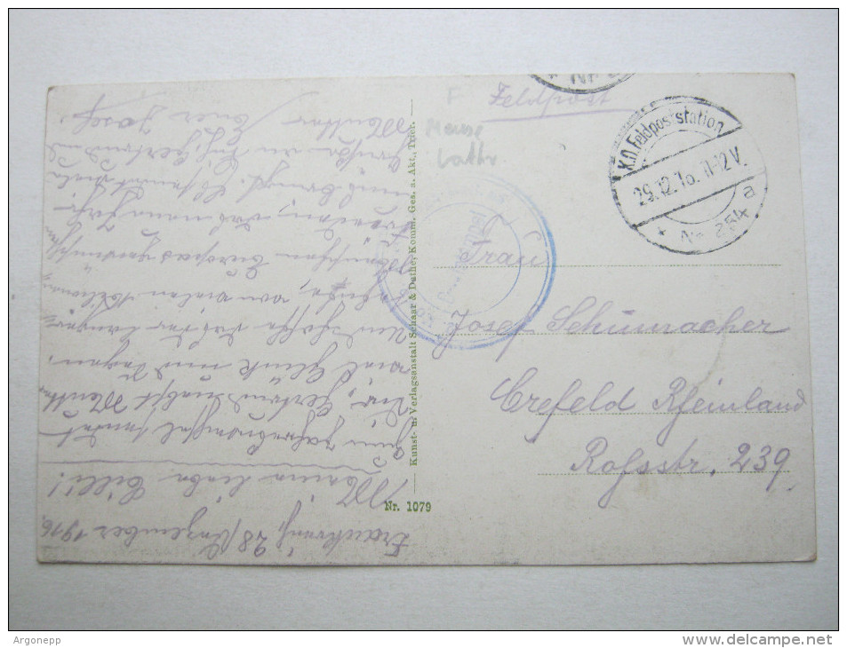 1916,  ETAIN  (CP)    ,  Carte Militaire   , 2 Scans - Marcofilie (Brieven)