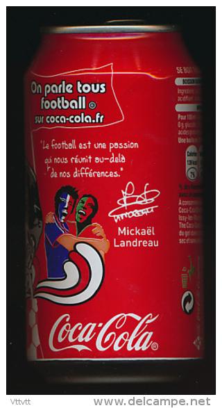 Canette Collector COCA-COLA, Mickaël Landreau, Euro 2008 (Austria-Switzerlan) Football - Cannettes
