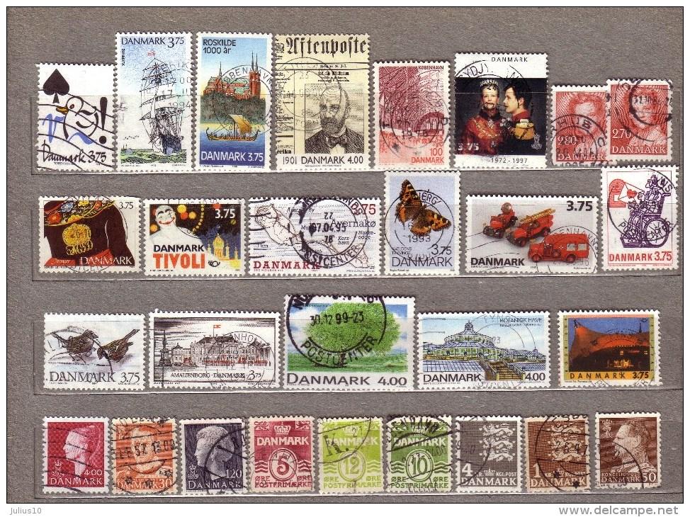 DANMARK DENMARK Used Gestempelt Oblitere Stamps Lot #8000 - Dinamarca