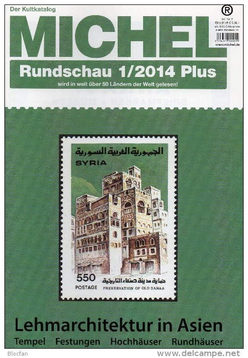MICHEL Briefmarken Rundschau 1/2014 Plus Neu 6€ New Stamps World Catalogue And Magacine Of Germany ISBN 4 194371 105009 - Chroniques & Annuaires