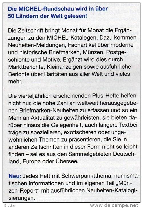 MICHEL Briefmarken Rundschau 1/2014 Plus Neu 6€ New Stamps World Catalogue And Magacine Of Germany ISBN 4 194371 105009 - Deutsch