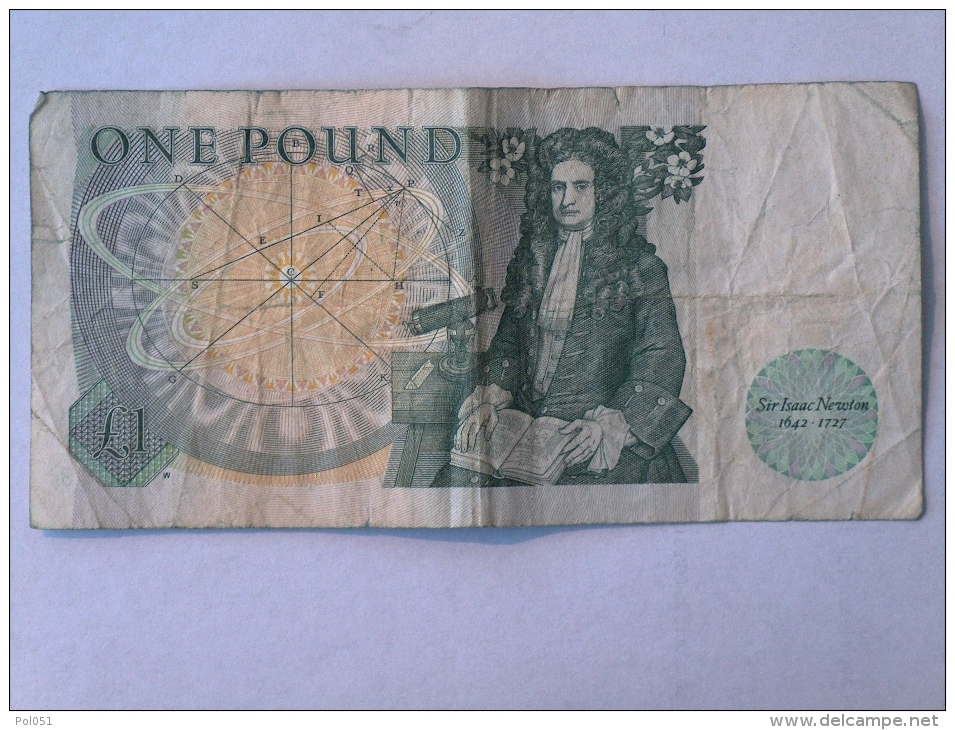 GRANDE BRETAGNE BANK OF ENGLAND (£1) ONE POUND NOTE Signed By DHF Somerset (Cashier 1980-1988) - 1952-… : Elizabeth II