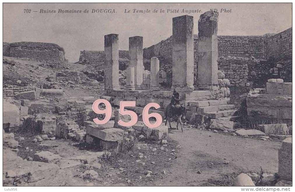 CPA * * Ruines Romaines De DOUGGA * * Le Temple De La Pitié Auguste - Tunisia