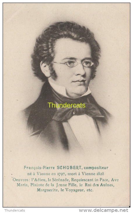 CPA CELEBRE MUSICIEN FRANCOIS PIERRE SCHUBERT - Chanteurs & Musiciens