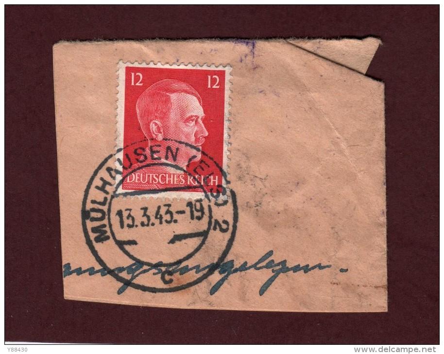 712 De 1941/43 - MÜLHAUSEN - MULHOUSE. 68. FRANCE - Cachet Du 13-3-1943 - Occupation Allemande Par Le 3 ème Reich - Marcophilie (Lettres)