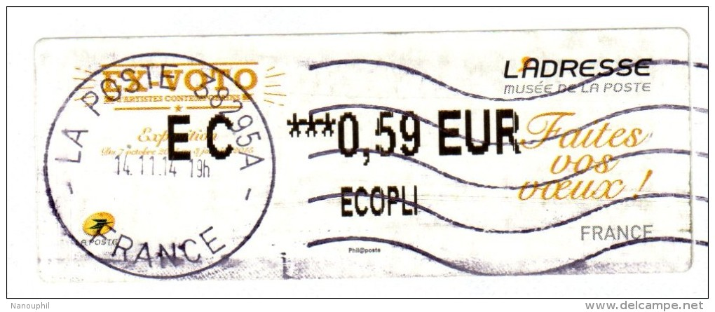"""VIGNETTE LISA   L'ADRESSE  """" Faites Vos Voeux """"    EC  0.59 Euros  (sur Fragment) - 2010-... Vignette Illustrate"""