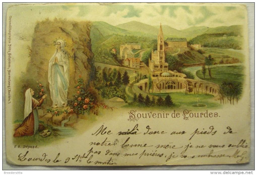 Cpa Cpsm LOURDES 2 Scans Postcard Ancienne Carte Postale - Lourdes