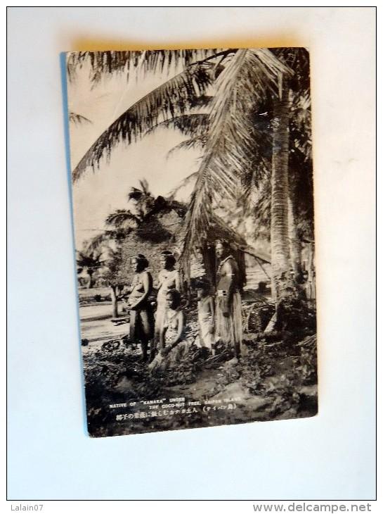 "Carte Postale Ancienne : SAIPAN ISLAND : Native Of ""Kanaka"" Under The Coconut Tree - Marianen"