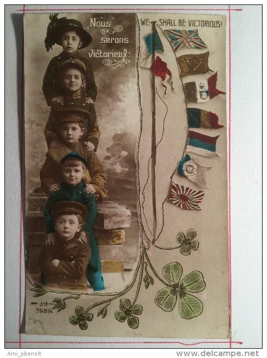 Guerre De 1914, Nous Serons Victorieux, Soldat De Cahors - Guerre 1914-18