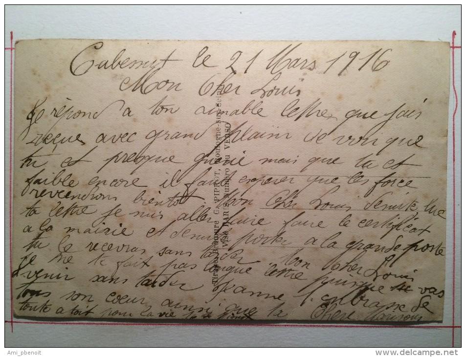 Guerre De 1914, Lettre à Papa Chéri, Canon, Soldat De Cahors - Guerre 1914-18