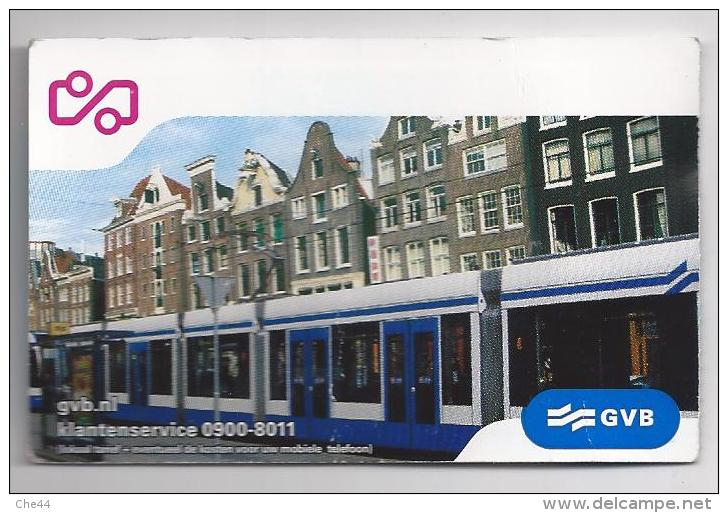 Ticket Tramway. Pays Bas. (Voir Commentaires) - Tramways