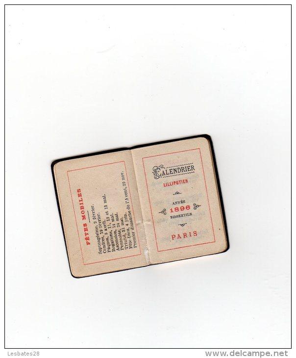 CALENDRIERS AGENDA PETIT FORMAT  CALENDRIER  LILLIPUTIEN 1896   BEL  ETAT  NOV  2014 Cal 006 - Calendriers