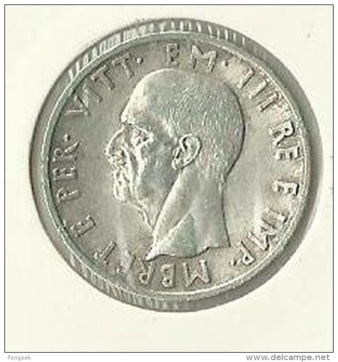 ALBANIA. 5 LEKE 1939.  KM#33. - Albania