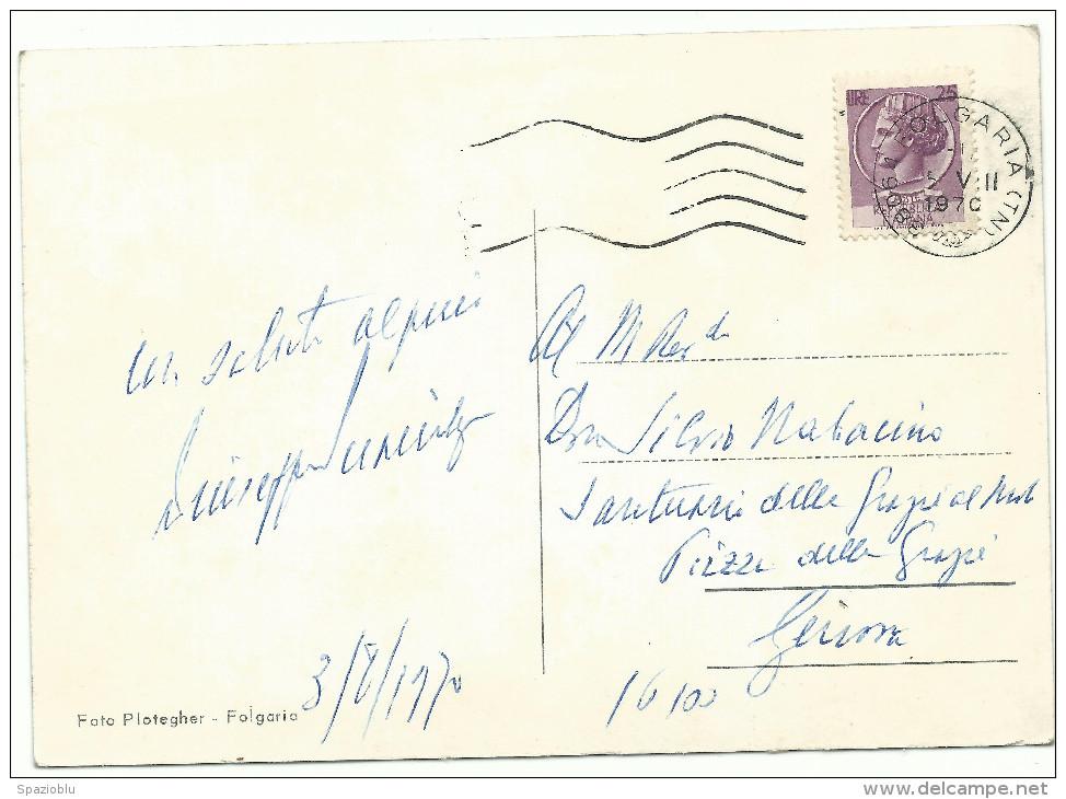 """1970, """"Folgaria"""" (Trento) - Vedutine - Fiori. - Fiori"""
