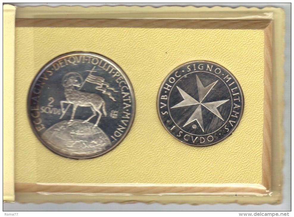 ZZ - SMOM Ordine Di Malta 1972 : Dittico 1 Scudo Più 2 Scudi - Malte (Ordre De)