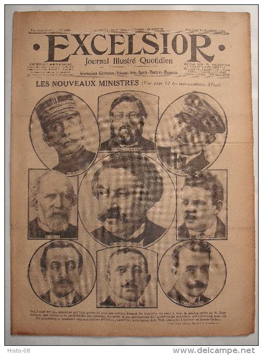 WW I:EXCELSIOR:1916:..A BRIAND..GOUVERNEMENT BRITANNIQUE..MAROCAINS.FR ONT..Etc.. - Livres, BD, Revues