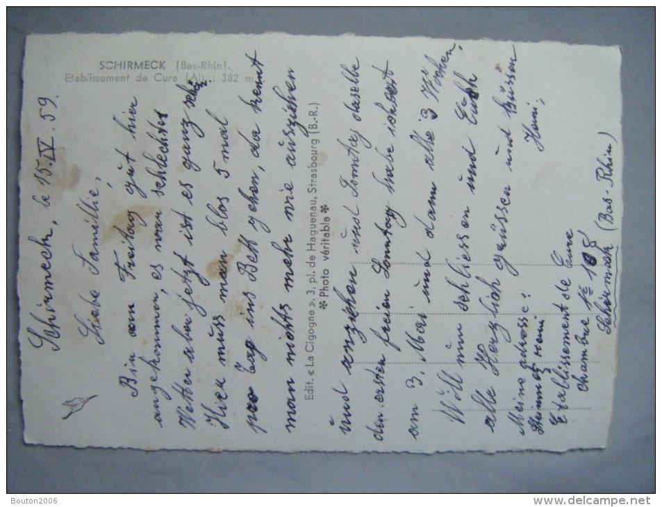 Schirmeck 1959 Etablissement De Cure - Schirmeck