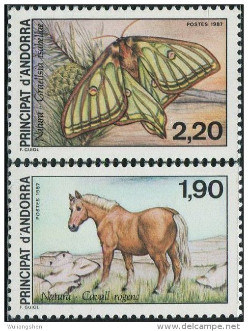 FD0119 French Andorra 1987 Conservation Mustang 2v MNH - Unused Stamps