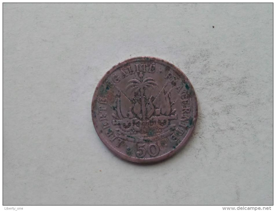 1907 - 50 Centimes / KM 56 ( Uncleaned - Details Zie Foto´s ) ! - Haïti