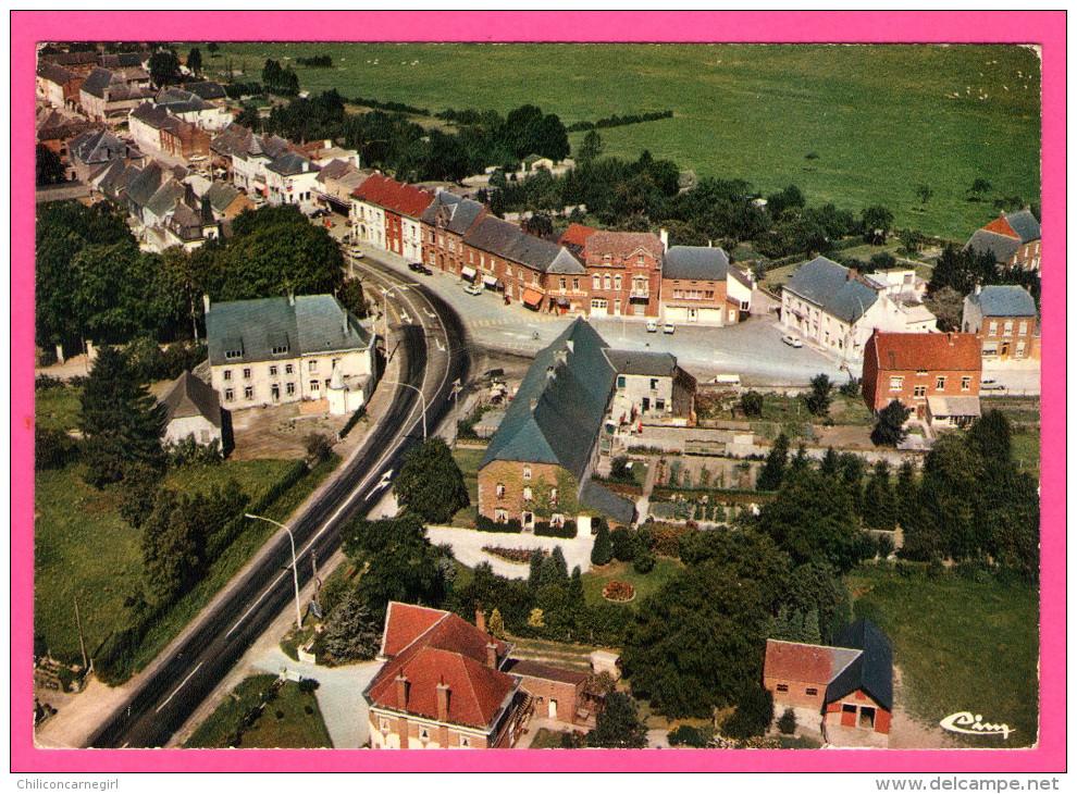 Rance - Vue Aérienne - Place Albert-François - CIM - Sivry-Rance