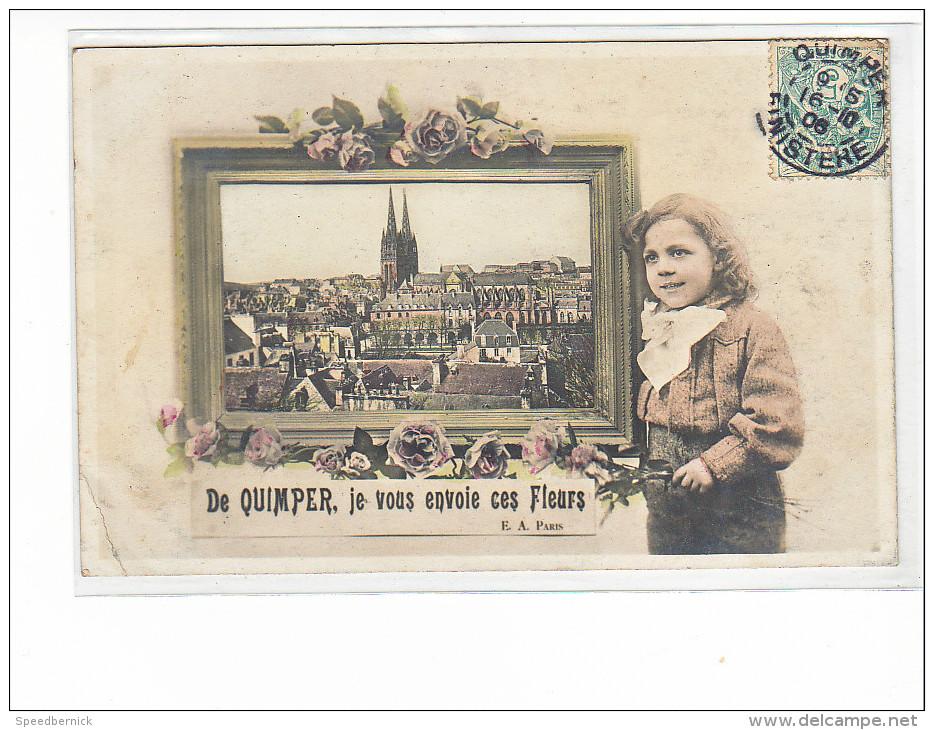24050 De QUIMPER Je Vous Envoie Ces Fleurs -EA Paris -enfant Garcon Rose - Quimper