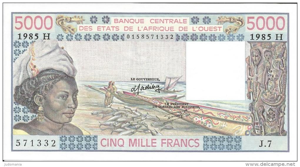 B.C.E.A.O. Niger  5000 CFA  1985 H Série  J. 7 - Niger
