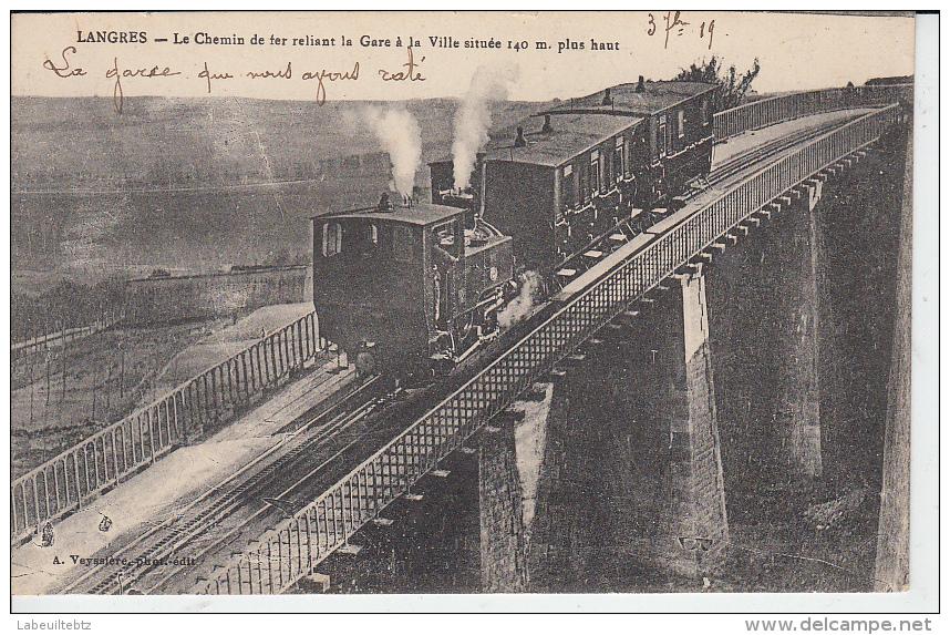 LANGRES - Chemin De Fer Reliant La Gare à La Ville   PRIX FIXE - Trains