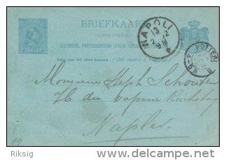 Briefkaarte - Sent To Napoli.   S-1718 - Postal Stationery