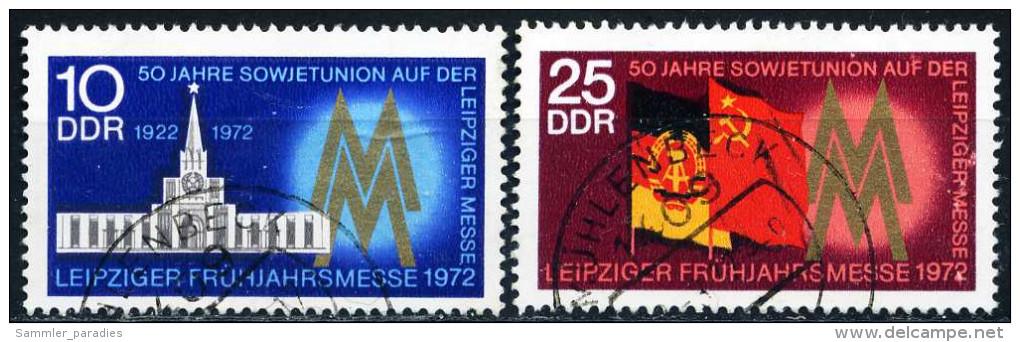DDR - Michel 1743 / 1744 - OO Gestempelt (B) - 10-25Pf    Leipziger Frühjahrsmesse 72 - [6] République Démocratique