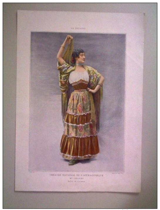 Illustration Ancienne MLLE CHASLES, Ballet De Carmen, Théatre National De L'opéra Comique - Autres