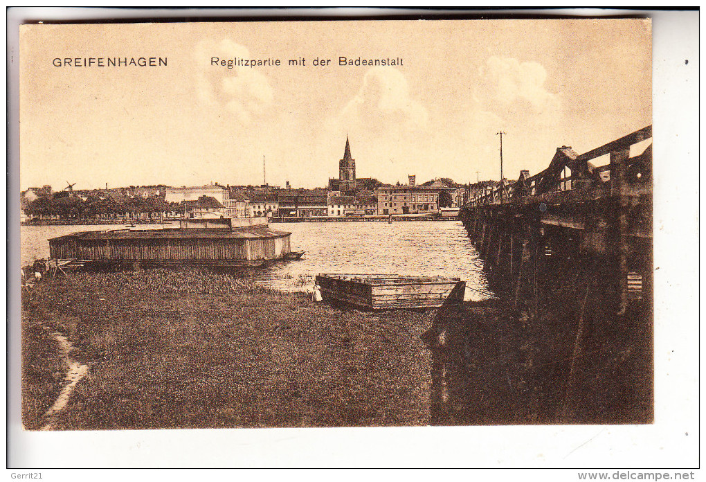 POMMERN - GREIFENHAGEN / GRYFINO, Reglitz Mit Badeanstalt - Pommern