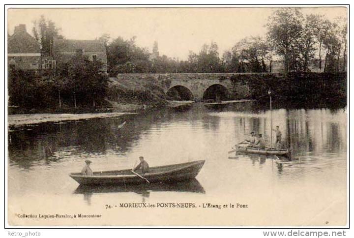 MORIEUX LES PONTS NEUFS : L'étang Et Le Pont ( édit. Lequien-Ravalec ) - Morieux