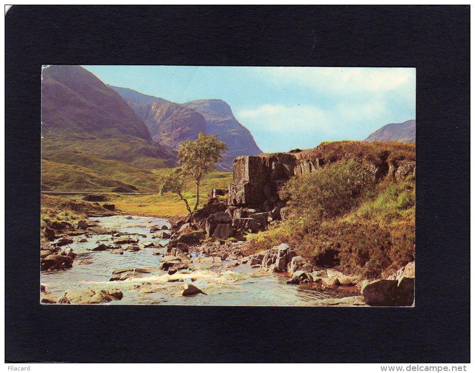 50115     Regno  Unito,  Scozia,   The River  Coe And  Three  Sisters,  Glen Coe,  VG  1974 - Argyllshire