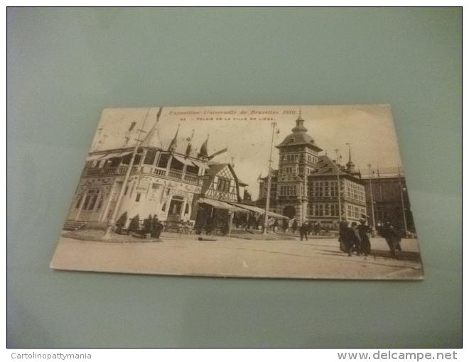 Esposizione Universale Di Bruxelles 1910  Palais De La Ville De Liege Taverna Alsacienne - Esposizioni