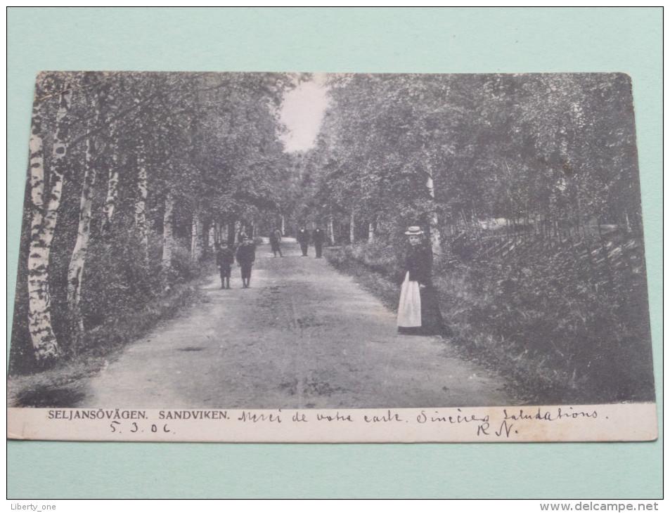 Seljansovagen SANDVIKEN / Anno 1906 ( Zie Foto Details ) !! - Suède