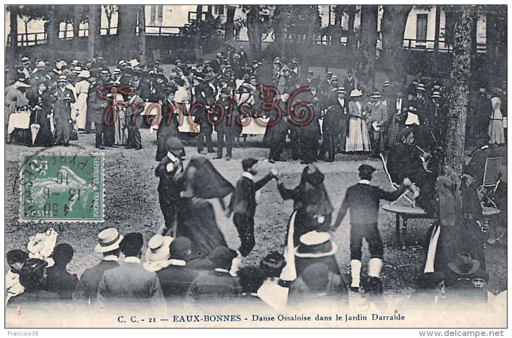 (64) Eaux-Bonnes - Danse Ossaloise Dans Le Jardin Darralde - Danseurs, Dancer, Dancing, Baile - 2 SCANS - Eaux Bonnes