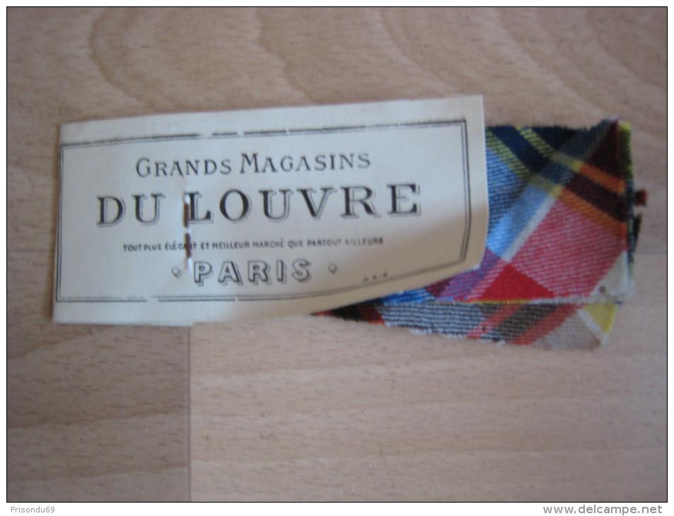 échantillons Tissus . Grands Magasins Du Louvre . Les Ecossais Du Louvre . Pure Laine . - Laces & Cloth