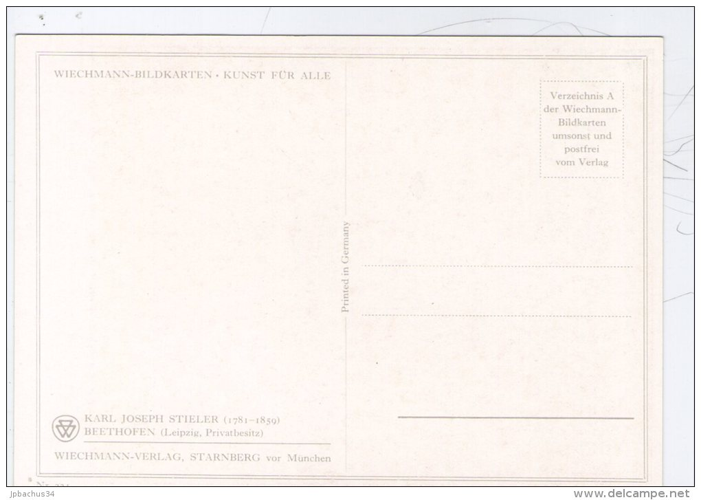 KARL JOSEPH STIELER. BEETHOVEN - Peintures & Tableaux