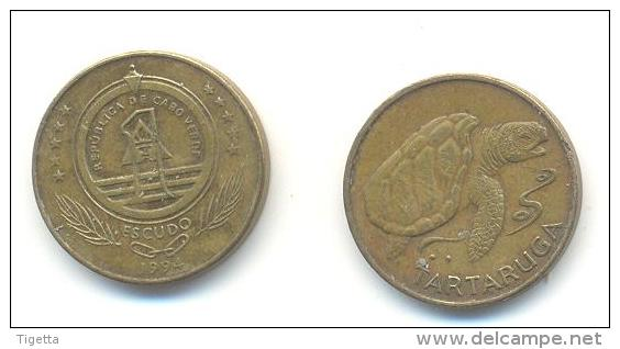 CAPO VERDE 1 ESCUDO ANNO 1994 - Cap Vert