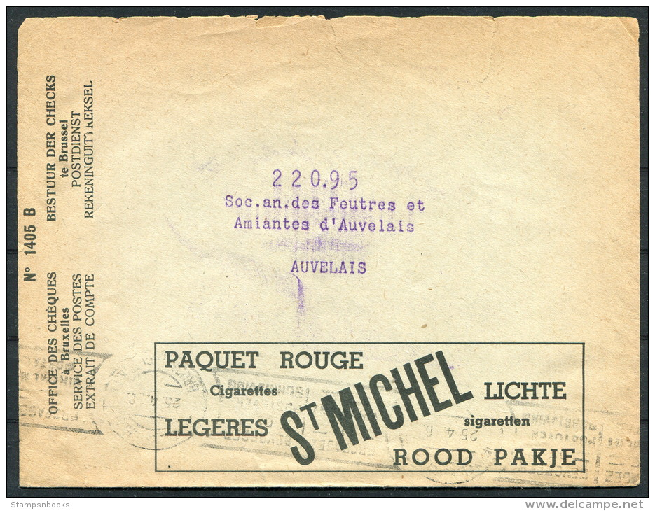 1930s Belgium Advertising Cover - St Michel Cigarettes Tobacco - Advertising