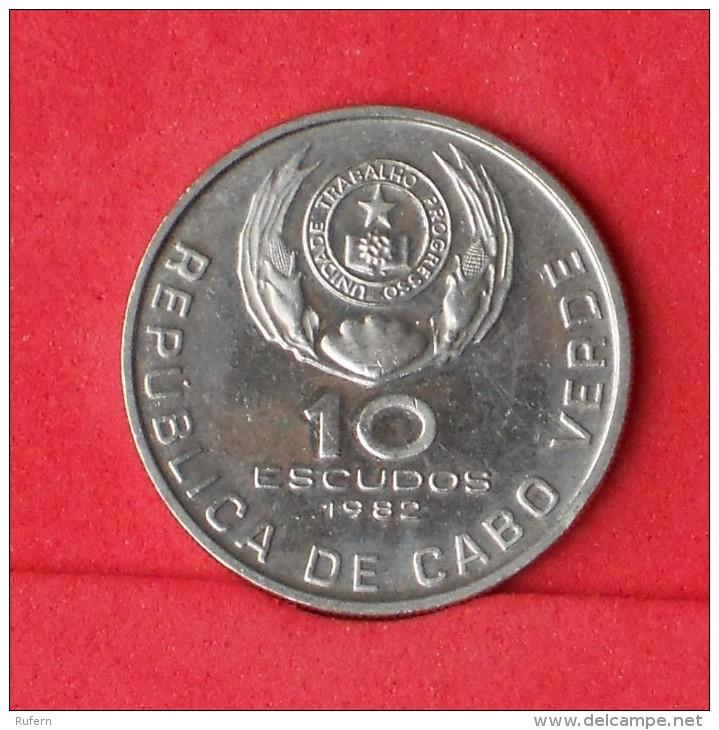 CAPE VERDE  10  ESCUDOS  1982   KM# 19  -    (Nº09484) - Cap Vert