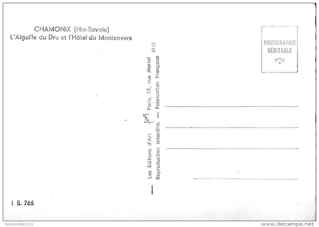 CHAMONIX L'AIGUILLE DU DRU ET L'HOTEL DE MONTENVERS(dil15) - Ouvrages D'Art