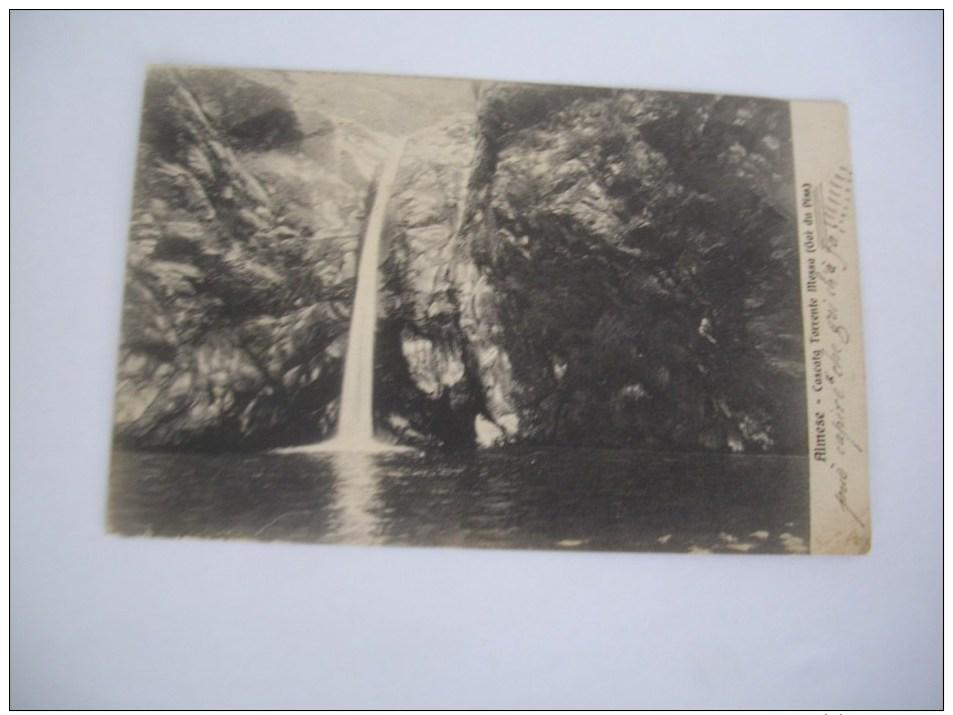 ALMESE.CASCATA TORRENTE MESSA. VIAGGIATA 1911 - Otras Ciudades