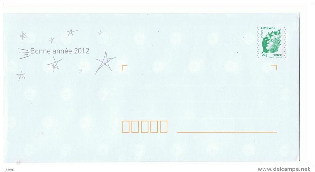 Voeux 2012, Lettre Verte Beaujard - Postal Stamped Stationery