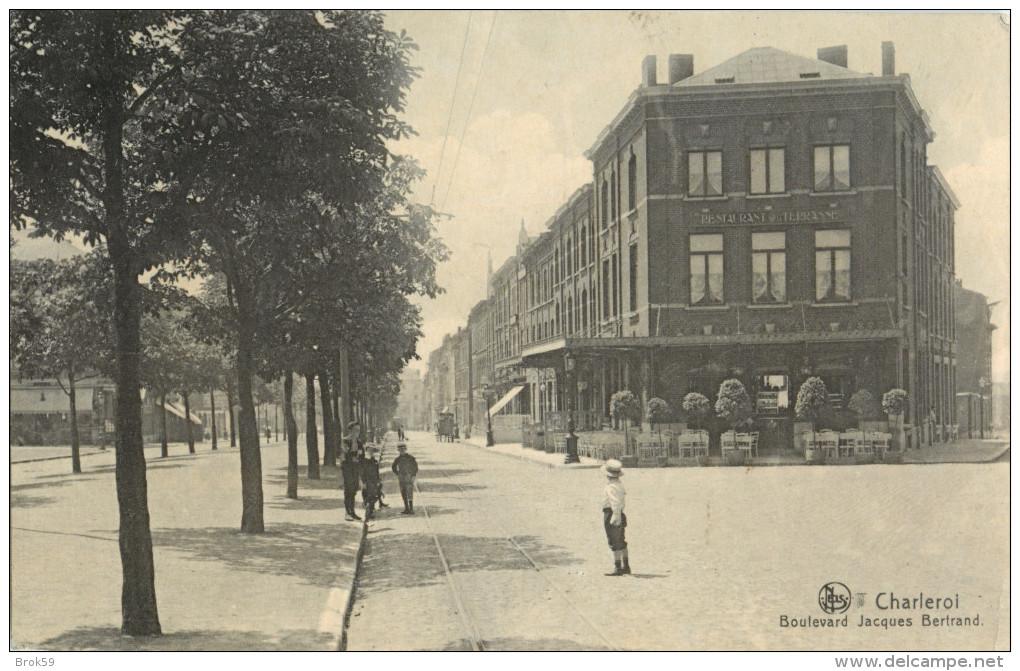 CHARLEROI - BOULEVARD JACQUES BERTRAND  ( DEVANTURE RESTAURANT - TERRASSE ) - Charleroi