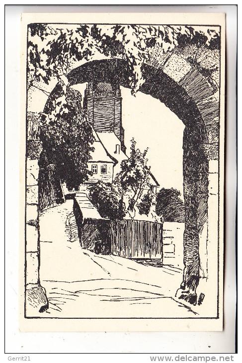 """3550 MARBURG, Alt-Marburg """"Am Kalbstor"""" Otto Ubbelohde - Marburg"""