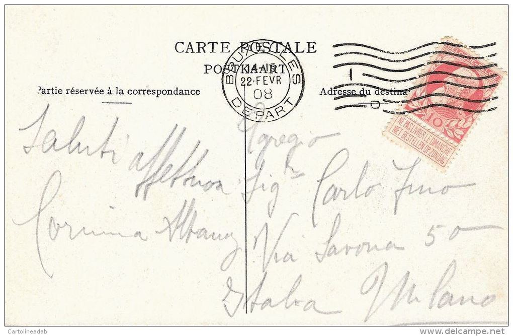 [DC5924] CARTOLINA - BELGIO - BRUXELLES - PALAIS DE JUSTICE - PANORAMA - Viaggiata - Original Old Postcard - Monumenti, Edifici