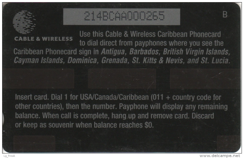 Caribbean - GPT - Generic - GEN-214A - Lizard - $10 - 214BCAA - RR - Altri – America