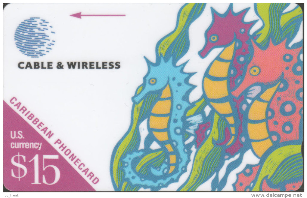 Caribbean - GPT - Generic - GEN-214B - Seahorse - $15 - 214BCAB - RRR - Schede Telefoniche
